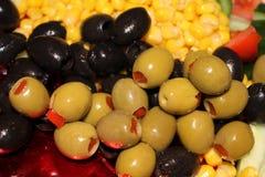 Valanga delle olive fotografia stock libera da diritti