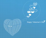 Valantine's day and heart Stock Images