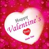 Valantine-Tag auf rotem und rosa Hintergrund Stockfotografie