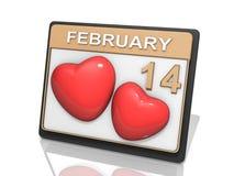 Valantines Tag 14. Februar Vektor Abbildung