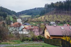 Valasska Bystrice en República Checa foto de archivo libre de regalías