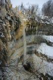 Valaste瀑布爱沙尼亚全景  图库摄影