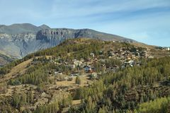 Valberg, stazione sciistica in Riviera francese Fotografia Stock
