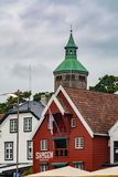 Valbergtarnet lub Valberg wierza w Stavanger, Norwegia zdjęcie stock