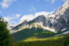 Valbona mountains in Albania stock image