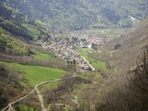 Valbondione is a mountain village at the end of the Seriana valley in the area of Bergamo, Italy. Spring time royalty free stock images