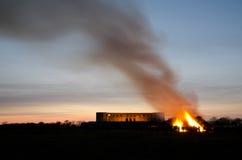 Valborg fire. Bonfire for celebrating springtime in Sweden Stock Images