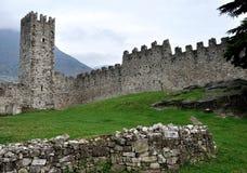 Valcamonica Breno castle inside view Stock Image