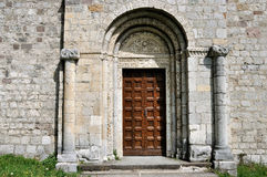 Valcamonica San Siro abbey entrance Royalty Free Stock Photo