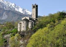 Valcamonica San Siro abbey Stock Image