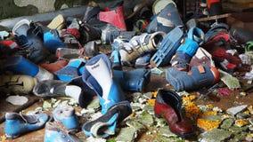 Valcanale, Μπέργκαμο, Ιταλία Εγκαταλειμμένος αθλητικός εξοπλισμός υπηρεσιών και ενοικίου σκι φιλμ μικρού μήκους