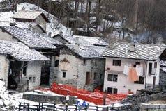 Valchiusella na província de Turin Imagens de Stock Royalty Free