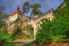 Valdš tejn Kasteel, geopark Boheems paradijs, Tsjechische Republiek stock afbeelding