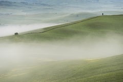 VAld'orcia, Toscanië Royalty-vrije Stock Afbeelding