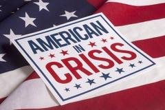 Valdag - amerikan i kris Royaltyfri Fotografi