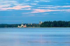 Summer evening at the Valdai lake Royalty Free Stock Photography