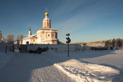 Valdai Iversky Svyatoozersky Bogoroditsky修道院在俄罗斯 免版税库存照片