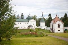 Valdai Iversky Svyatoozersky Bogoroditsky man's monastery. Stock Photo