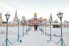 Valdai Iversky Svyatoozersky Bogoroditsky monastery in Russia Stock Photos