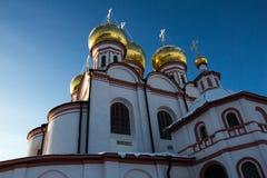 Valdai Iversky Svyatoozersky Bogoroditsky monastery in Russia Stock Photo