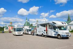 Several campers of the German tourists royalty free stock photos