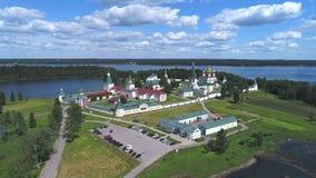Valdaisky Iversky Bogoroditsky Svyatoozersky修道院天线 俄国 影视素材
