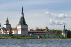 Valday Iversky修道院,俄国 免版税库存图片