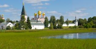 Valday Iversky kloster Royaltyfri Fotografi