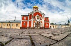Valday Iversky kloster, en rysk ortodox kloster Arkivfoton