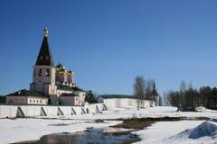 Valday Iversky kloster Ryska traditioner Royaltyfria Foton