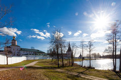 Valday Iversky Monastery at the spring Stock Images