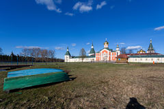 Valday Iversky Monastery at the spring Stock Photo