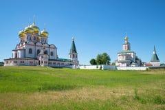 Valday Iversky Svyatoozersky修道院的大厦复合体  Novgorod地区,俄国 库存照片