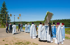 The annual sacred religious procession Stock Images