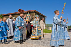 The annual sacred religious procession Stock Photography
