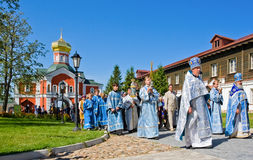 The annual sacred religious procession Royalty Free Stock Photo