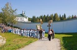 Le cortège religieux sacré annuel Images libres de droits