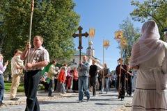 Le cortège religieux sacré annuel Image libre de droits