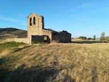 Valdecantos村庄在索里亚,西班牙 图库摄影
