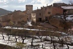 Valderrobres dorp Teruel provincie Stock Afbeeldingen