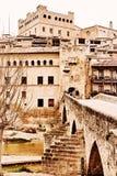 Valderrobres gammal stad Landskap av Teruel, Spanien Arkivbilder
