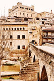 Valderrobres old town. Province of Teruel, Spain Stock Images