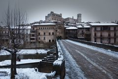 Valderrobres village. Teruel Province stock images