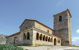 Valderrodilla Church. San Miguel Arcangel Church in the Andaluz province of Soria, Spain Stock Images