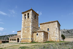 Valderrodilla Church. San Miguel Arcangel Church in the Andaluz province of Soria, Spain Royalty Free Stock Photography