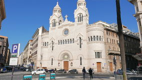 Valdese Evangelical church at Piazza Cavour. Rome. Italy, Italy - February 18, 2015: church was founded in the 12th century by Peter Waldo, and centuries later stock video