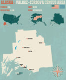 Valdez†'Cordova spisu ludności teren w Alaska royalty ilustracja