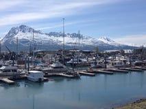Valdez阿拉斯加港口 图库摄影