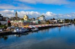 Valdivia από τον ποταμό, Χιλή στοκ εικόνα με δικαίωμα ελεύθερης χρήσης