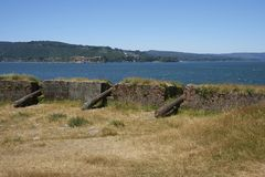 Historic fort protecting Valdivia in Southern Chile Royalty Free Stock Photography